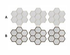 Espejo de pared en forma de panal de abeja. Set de 3 unidades Diseño Natural Hog