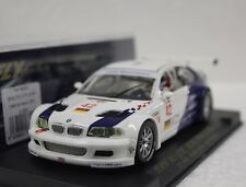 FLY A284 BMW M3 GTR ALMS PETIT LE MANS 2001 NEW 1/32 SLOT CAR IN DISPLAY CASE