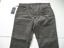 POLO RALPH LAUREN Men's Grey Straight-Fit Stretch 5-Pocket Corduroy Pants 40x32