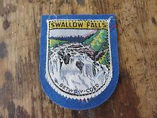 Unused Rare Vintage/Old Patch/Badge 'Swallow Falls' - Betws-y-Coed 1960s