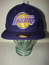 7ed5a284ce1 Los Angeles Lakers Purple Wool Cap NewEra 59Fifty Fitted 8 Hardwd  Classic NWT