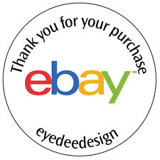 70 Personalised Shop Ebay Logo Business Stickers Thank you for your purchase 043
