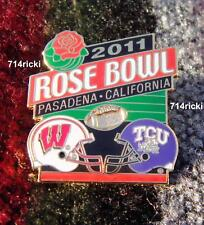 Official 2011 Rose Bowl Collectible Pin Wisconsin Badgers vs Tcu Horned Frogs