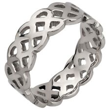 Ring Sz 10 Stainless Steel Celtic Cutout
