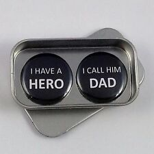 Dad, Fathers Day, I Have a Hero I Call Him Dad Magnet Gift Set, Birthday Gift