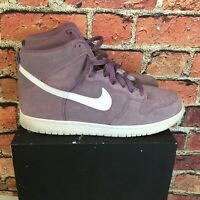 Nike Dunk Hi Lavender Suede Size 11.5 Good Condition Free Shipping