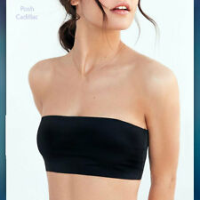 Girls COTTON Black Strapless Sports Bra Casual Formal Boob Tube Top Bandeau