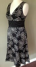 Ted Baker Black silk Black Dress size 4 UK 14 special occasion party