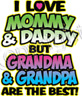 grandma grandpa best kid t-shirt one piece boy girl baby shower newborn US siz >