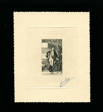 Monaco 1956 George Washington Scott 354 Signed Sunken Die Artist Proof/Essay