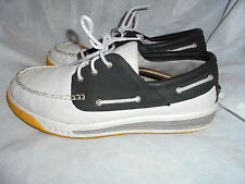 TIMBERLAND MEN'S WHITE/BLACK LEATHER LACE UP SHOES SIZE UK12 EU 46 US 13 M VGC