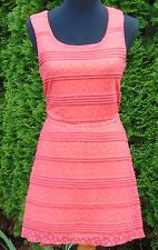 Trixxi Coral Lace Backless Asymmetric Hem Mini Dress, Women's Size Small