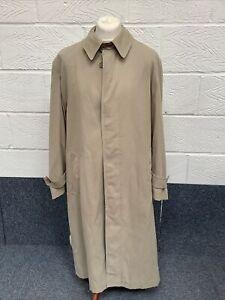 "CHESTER BARRIE Savile Row - Mens BEIGE Trench Coat Rain Mac Size 42"""