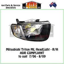HEADLIGHT fit MITSUBISHI TRITON ML R/H RIGHT DRIVER SIDE 2006-2009 ADR COMPLIANT