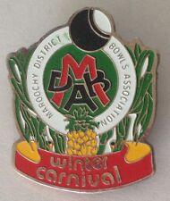 Maroochy District Winter Carnival Bowling Club Badge Rare Vintage (L3)