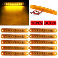 10X Yellow / Amber 9 LED Side Marker Light for Van Truck Trailer Lorry Lamp 12V