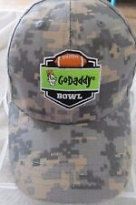 Go Daddy NCAAF Bowl Game Camouflage Adjustable OSFM Baseball Cap! 100% Cotton