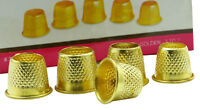 5 x METAL THIMBLES DRESSMAKING SEWING GRIP METAL FINGER PROTECTOR PINS & NEEDLES