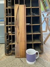 Wood Type Giant Letter F 20 Inches Tall Vintage Etterpress Printing Onyx