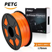 SUNLU PETG 3D Printer Filament 1.75mm 1KG/2.2LB Spool Orange Printing Material