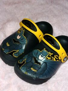 EEUC Boy's Toddler Batman Theme Crocs Shoes Size 9