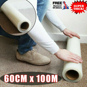 100M Carpet Floor Protector Self Adhesive Clear Roll Protection Cover Dust Film