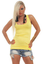 5587 Sexy Tailliertes Top Tank Top Gr. 34 36 38  26 Farben