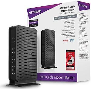 NETGEAR N600 DOCSIS 3.0 Wi-Fi Cable Modem Router C3700-100NAS