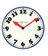 Nextime Boy Glass Wall Clock Home Living Room Decor, 43cm
