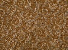 "Chenille Upholstery Saxxon Marina Floral Leaf Drapery Home Fabric Yard 56"" Wide"