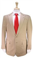 RALPH LAUREN Black Label Khaki Tan Peak Lapel Cotton 2-Btn Slim Suit 40S