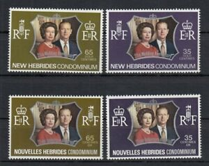 (85373) GB New Hebrides English & French MNH Queen Silver Wedding 1972