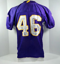 2008 Minnesota Vikings Cullen Loeffler #46 Game Issued Purple Practice Jersey