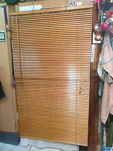 2x Lindmon, Wood Blinds+Fairlead+Clamp Holder, Wood 68 1/8x39 3/8in, Very Good