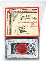 Hancy 4 oz Quilt Pounce Pad with Chalk Powder, White