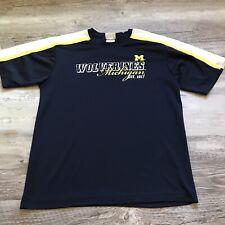 University Of Michigan Shirt Youth Size XXL Blue/Maize