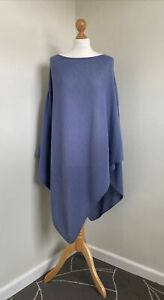 ARTISAN ROUTE Stunning Powdered Lavender 100% Baby Alpaca Knitted Poncho O/S