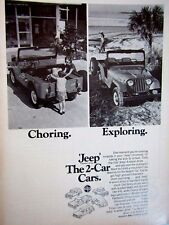 "1969 Jeep Universal  Kaiser Jeep-Choring Exploring Original Print Ad 8.5 x 11 """