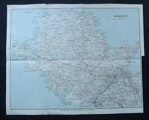 Vintage Map: Anglesey, Wales, by John Bartholomew, Ward, Lock & Co, 1930s