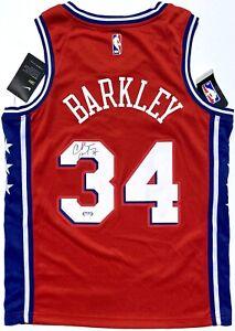 CHARLES BARKLEY #34 SIGNED PHILADELPHIA 76ERS SWINGMAN BASKETBALL JERSEY PSA/DNA
