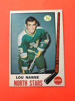 Lou Nanne 1969-70 O-Pee-Chee OPC Hockey Card #198  See Photos for Condition