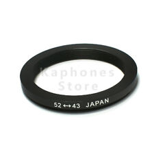 52-43mm Step-Down Metal Lens Adapter Filter Ring 52mm Lens to 43mm Accessory NEW