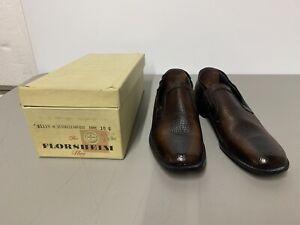 VTG Florsheim Lightweights Leather Dress Shoes Size 10 C- Deauville Antique