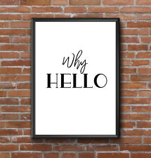INSPIRATIONAL MOTIVATIONAL POSITIVE WHY HELLO QUOTE POSTER PRINT HOME WALL ART