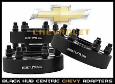 "1999-2016 Chevy Silverado 1.5"" Thick Black Hub Centric Wheel Spacers Adapters"
