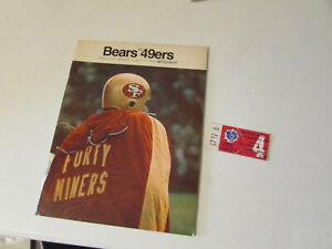 1968 CHICAGO BEARS VS 49ERS FOOTBALL PROGRAM AND TICKET STUB