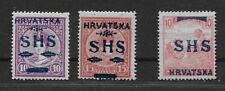 Croatia. 3 better stamps. MH. (ref 021)