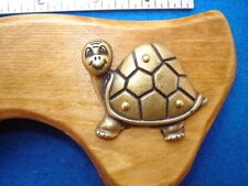 new Hand-Crafted HAPPY TURTLE CANE 3-tone tapered walking stick~useful gift