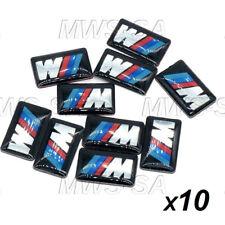 x10 Autocollant BMW M-TECH 3D En Aluminium Logo JANTES VOLANT M Performance +++