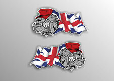 BRITISH BULLDOG & UNION JACK Car Van Motorcycle Stickers Decals 2 off #a007